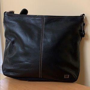 NWT The Sak Black Leather Shoulder/Crossbody Bag